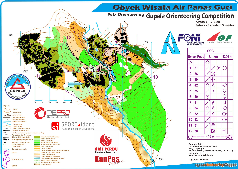 Peta Orienteering Indonesia